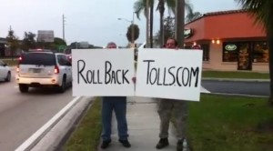 Roll Back Tolls street protest