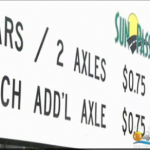Sun Pass toll rate sign